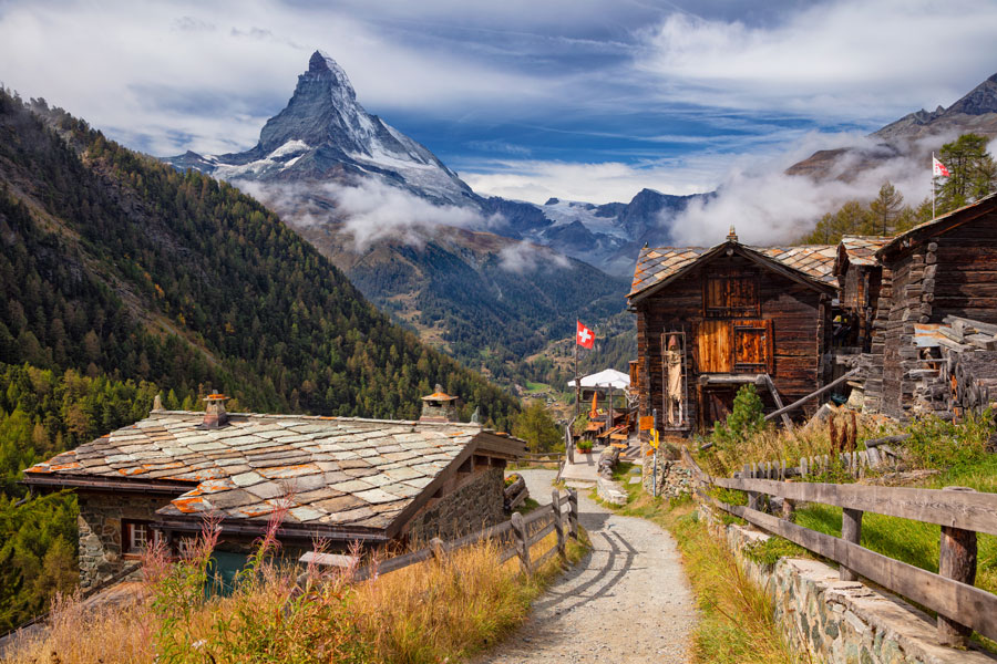 Swiss Alps with Matterhorn